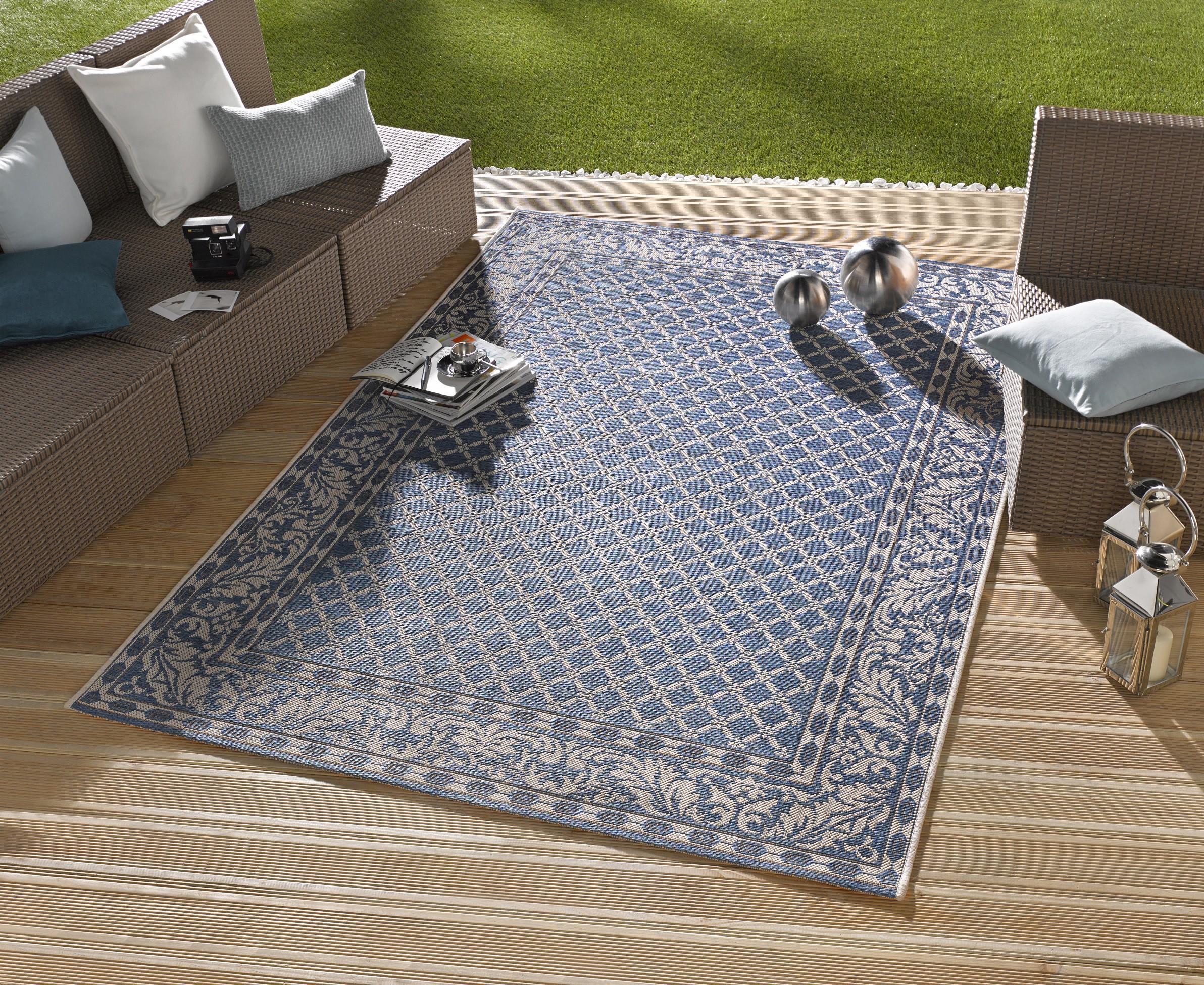 in outdoor design teppich terrasse wintergarten 160 x 230 cm royal blau od 1 teppiche design. Black Bedroom Furniture Sets. Home Design Ideas