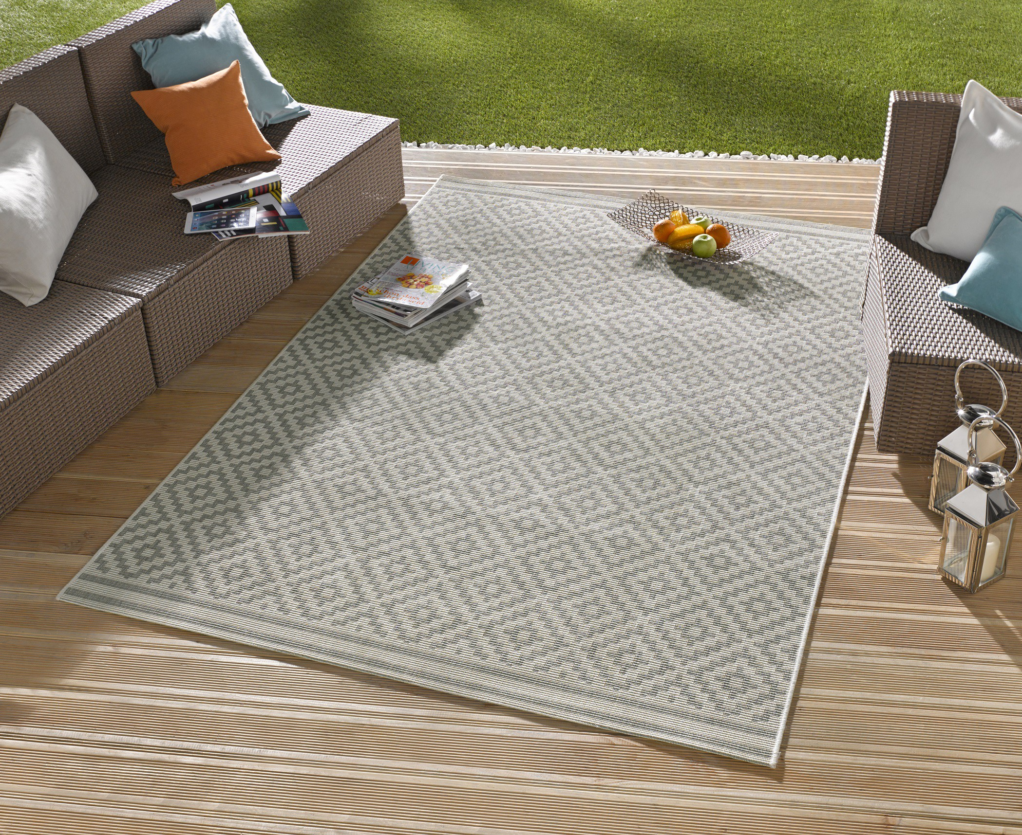 Teppich Outdoor in outdoor design teppich terrasse wintergarten 160 x 230 cm