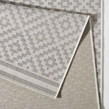 in outdoor teppich terrasse 160 x 230 cm raute grau. Black Bedroom Furniture Sets. Home Design Ideas