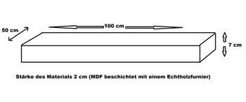 Bild 7 - Edler Waschtisch Waschtischplatte Waschkonsole Eiche mit Halterung WT-100 Carl Svensson