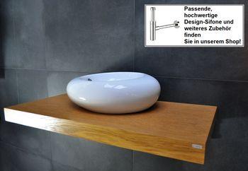 Bild 2 - Edler Waschtisch Waschtischplatte Waschkonsole Eiche mit Halterung WT-100 Carl Svensson