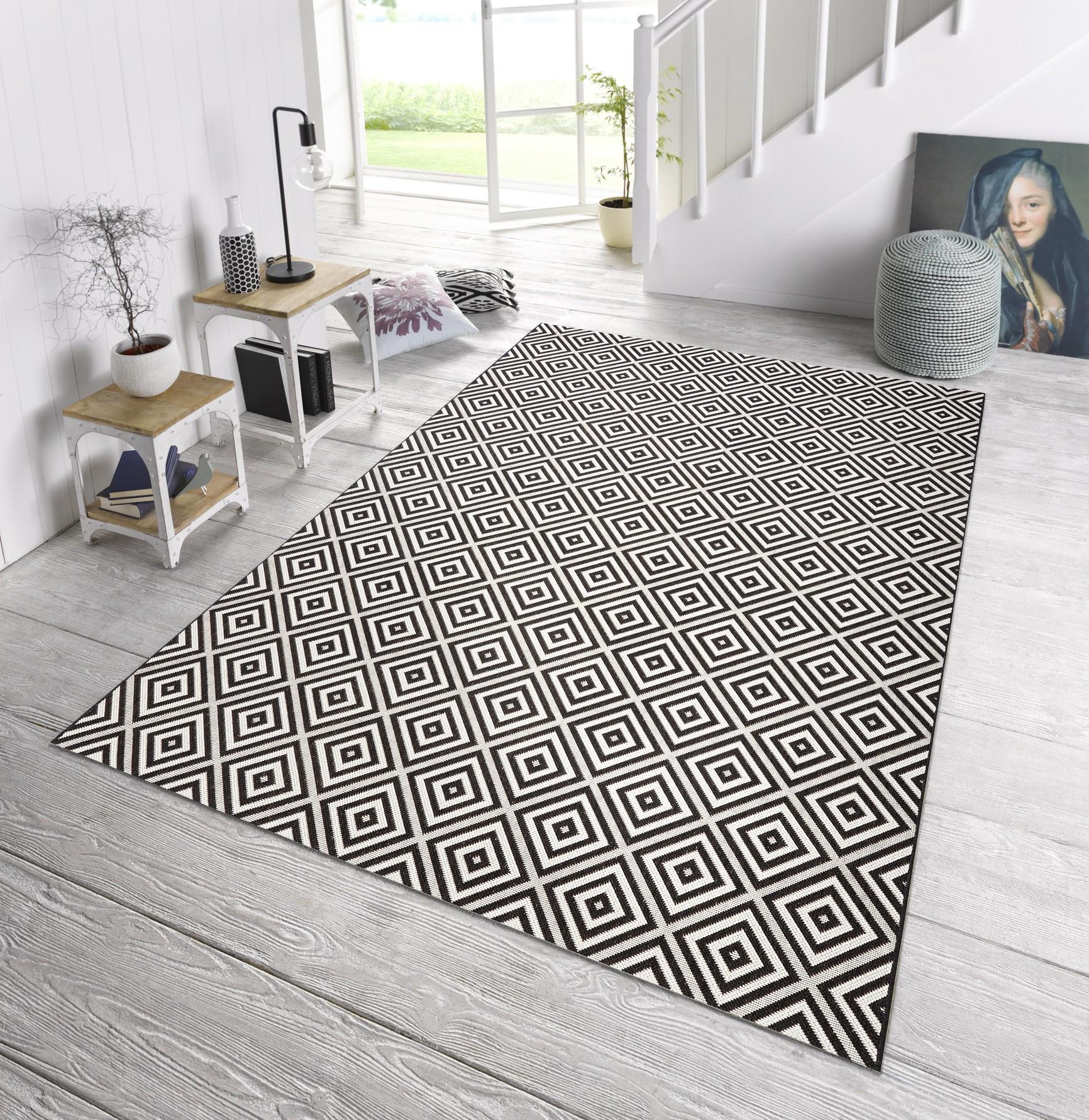 Teppiche Designer in outdoor design teppich terrasse wintergarten 160 x 230 cm karo