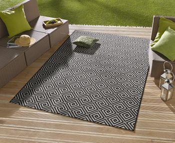 in outdoor design teppich terrasse 160 x 230 karo. Black Bedroom Furniture Sets. Home Design Ideas