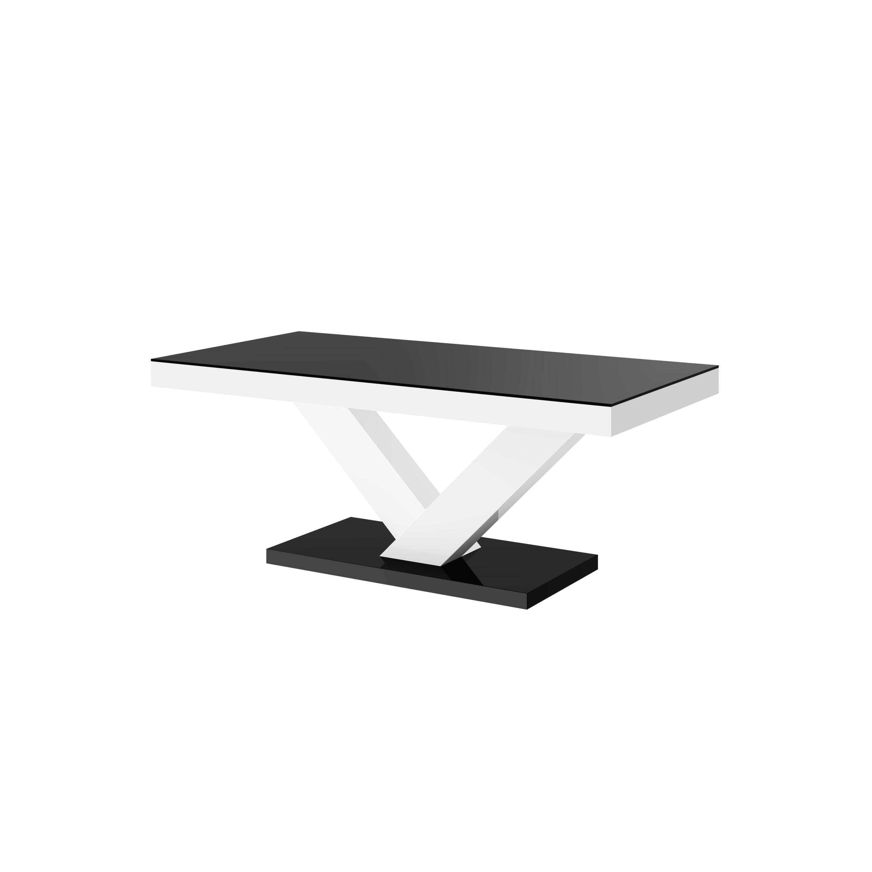 Design Couchtisch HV-888 Schwarz / Weiß Hochglanz Highgloss Tisch ...