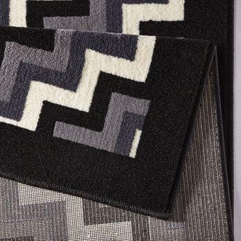Bild 2 - Design Teppich Step 160 x 230 cm Schwarz / Grau UT-22