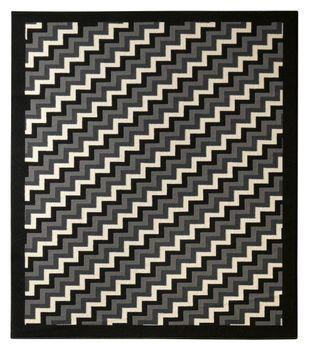 Bild 3 - Design Teppich Step 160 x 230 cm Schwarz / Grau UT-22