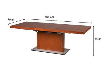Bild 3 - Design Couchtisch Tisch MN-7 Kirschbaum höhenverstellbar & ausziehbar