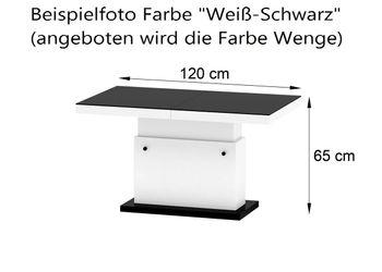 Bild 5 - Design Couchtisch H-333 Sonoma Eiche / Nussbaum höhenverstellbar ausziehbar