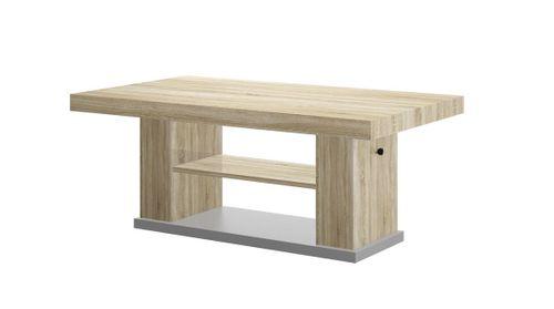 Design Couchtisch HN-777 Sonoma Eiche - Grau höhenverstellbar ausziehbar Tisch