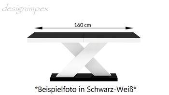 Bild 5 - Design Esstisch Tisch HE-888 Weiß Hochglanz ausziehbar 160 bis 210 cm