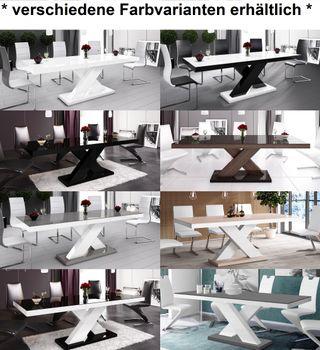 Bild 9 - Design Esstisch HE-888 Weiß Hochglanz ausziehbar 160 - 210 cm