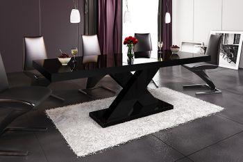 Design Esstisch Tisch HE-888 Schwarz Hochglanz ausziehbar 160 bis 210 cm