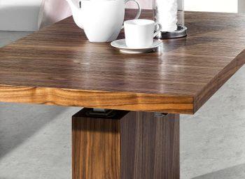 Bild 3 - Design Couchtisch Tisch MN-7 Nussbaum / Walnuss höhenverstellbar & ausziehbar Esstisch