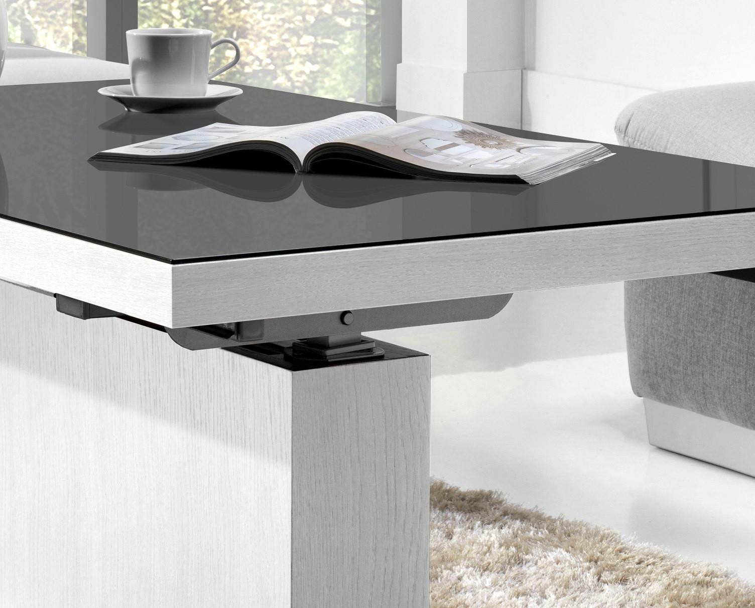 design couchtisch mn 3 wei seidenmatt grauglas. Black Bedroom Furniture Sets. Home Design Ideas