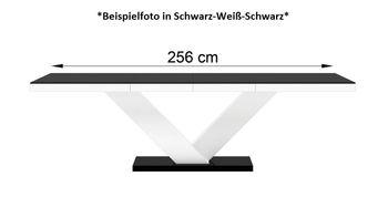 Bild 4 - Design Esstisch HE-999 Schwarz Hochglanz ausziehbar 160 / 208 / 256 cm