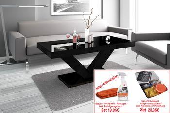 Bild 5 - Design Couchtisch HV-888 Schwarz Hochglanz Highgloss Tisch Wohnzimmertisch