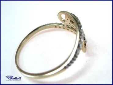 Ring echt Gold 333 r200427 8 Karat Zirkonia W56