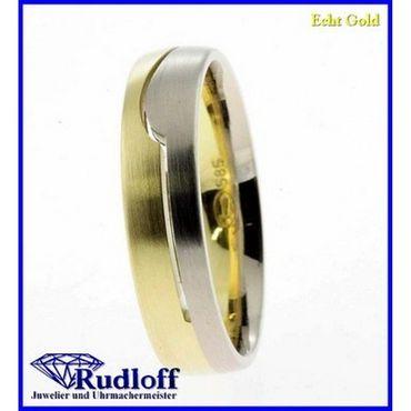 Trauring Verlobungsring Ehering Gold 585 bicolor gelb weiß 14 kt. 021587.0h01