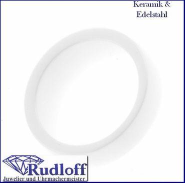 Keramik Damen Finger Ring weiß Weite 58 Nr.60-442102-58