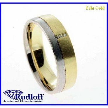 Trauring Verlobungsring Ehering echt Gold 585 14 kt. Brilliant 021822d04 Gr.54
