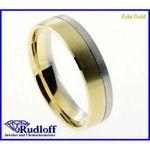 Trauring Verlobungsring Ehering echt Gold 585 bicolor gelb weiß 14 kt. 02/18220h 001