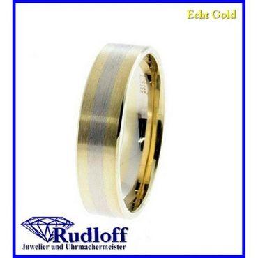 Trauring Verlobungsring Ehering echt Gold 333 GR.65 bicolor 8 Karat 246056h