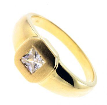 Damen Ring echt Gold 333 8 Karat Zirkonia 7131 massiv W.58