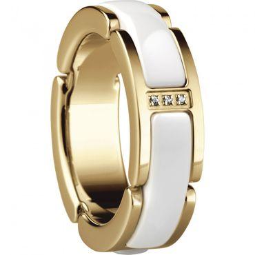 Bering Time Schmuck Edelstahl Ceramic Ring Fingerring 502-25- weiß gold