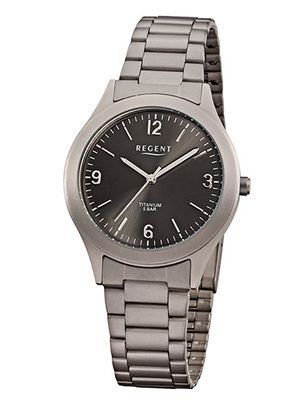Regent Uhr klassische günstige Herrenuhr Titan 13209095