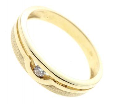 Damen Ring echt Gold 333 8 Karat Zirkonia 7116 W.50