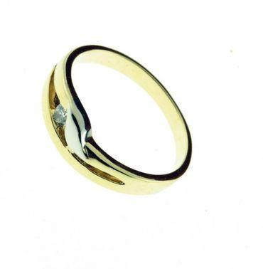 Damen Ring echt Gold 333 8 Karat Zirkonia 7117 W.53