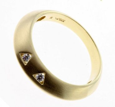 Damen Ring echt Gold 333 Zirkonia 0541 matt poliert 58