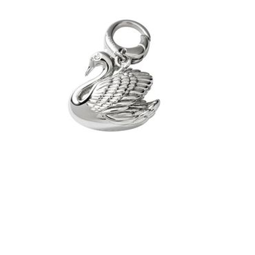 Fossil Charm Anhänger Edelstahl JF00171040 Charms Charmes Schwan