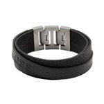 Fossil Schmuck Herrenarmband Leder JF84818 Stahl Leder schwarz 001