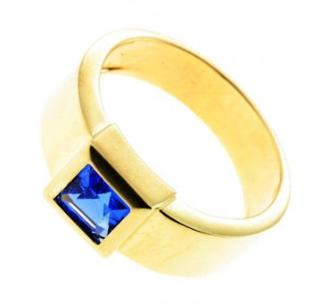 Damen Ring echt Gold 333 8 Karat 7146 mit s. Spinell W.56