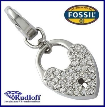 Fossil Charm Anhänger Zirkonia JF00034 040 Charms Charmes Schloss
