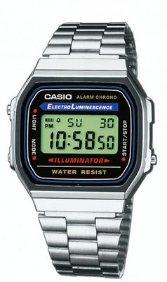 CASIO Classic Collection A168WA-1YES Retro Digitaluhr Herren