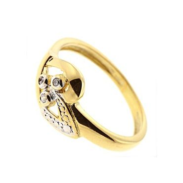 Damen Ring echt Gold 375 9 Karat Diamant 71114