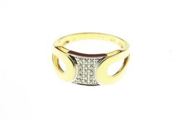 Damen Ring echt Gold 333 8 Karat 715016 Zirkonia W.55