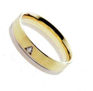 Trauring  Damenring bicolor Gelbgold Weißgold 585 Gr. 53 02-18210d