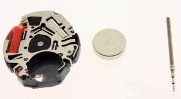Uhrwerk Shiojiri VJ20 Ersatzwerk für Armbanduhr Quarz Analog 6 ¾ Linien