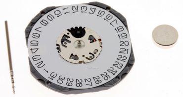 Uhrwerk Shiojiri VJ52 Ersatzwerk für Armbanduhr Quarz Analog 11 ½ Linien