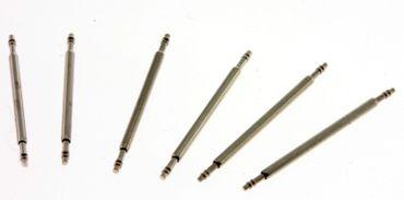 6 Federstege Spring Bars Barrettes FS15 Edelstahl für Uhrbänder Sparpack
