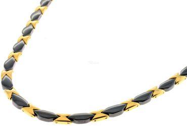 Elegantes Keramik Stahl Damen Collier schwarz gold SL-TL04GS Ceramic