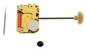 Uhrwerk Miyota 5R21 Ersatzwerk für Armbanduhr Quarz Analog 4 ¾ Linien