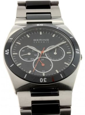BERING Uhr Ceramic Stahl 32341-742 Herrenuhr Safirglas ceramic steel mens watch