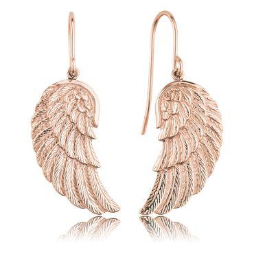 Engelsrufer Ohrhaken Flügel rosé-vergoldet ERE-WING-R