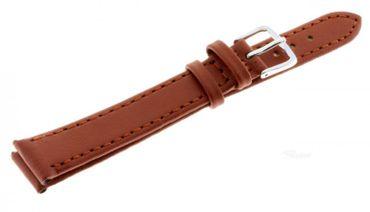 Lederband günstiges Uhren Armband echt Leder Basic 141-xl braun XL