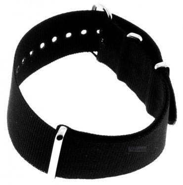 Nato Nylon Uhren Armband Ersatzband verschiedene Breiten 919bl schwarz