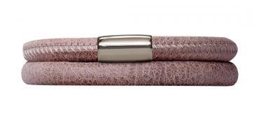 Endless Armband Leder Edelstahl 38cm Braun 12105-38